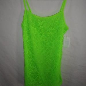 Energie Lace Cami Tank Top Neon Green Jr. small